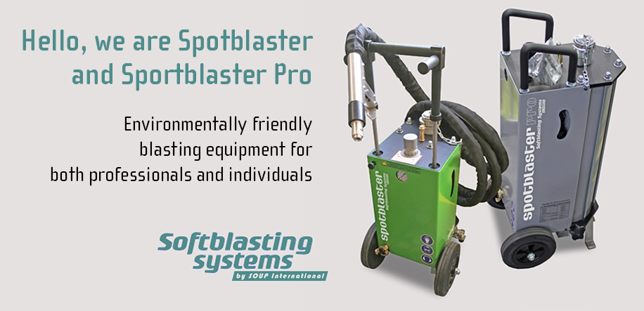 Environmentally firendly blasting equipment for booth professionals and individulas. Spotblaster and Spotblaster PRO